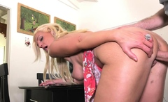 Milf Cheats Busty Blonde Gets Fucked