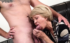 Sexy granny Sylva has recently started seeing a new guy who
