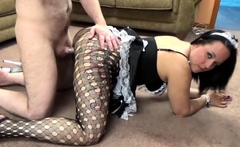 ChickPass - Slutty maid Selena Sky is in torn pantyhose and
