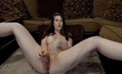 Busty Chick having fun masturbating on Webcam