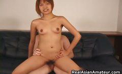 Horny petite asian slamming her pussy