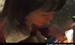Outdoor oral madness asian porn video