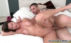 Hot brunette babe gets horny