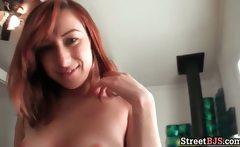 Amazing hot big boobed redhead slut