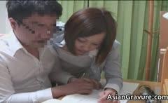Hot asian home teacher with big boobies