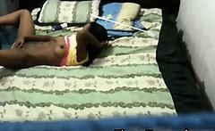 Spying my black teen neighbour 8